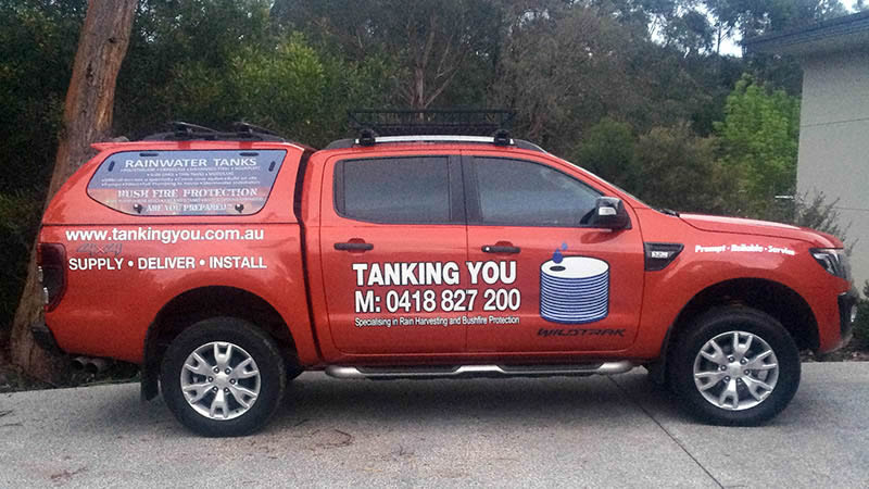 Water tanks delivered throughout Adelaide Hills and Adelaide Metro